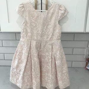 Janie and Jack pink champagne 3T cap sleeve